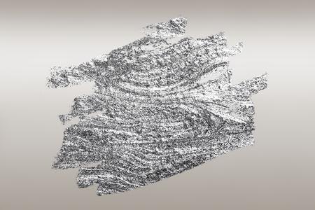 Silberner Pinselstrich strukturierter Hintergrund