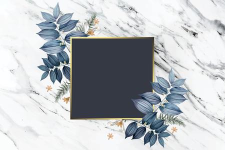Lussuoso design floreale per la cornice di nozze Archivio Fotografico