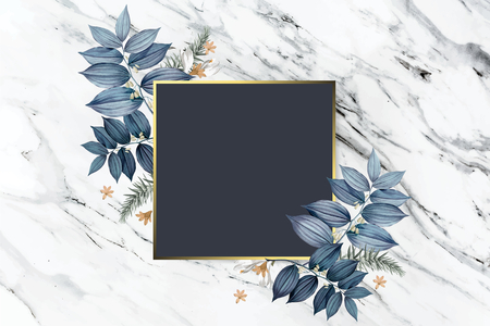 Luxurious floral wedding frame design