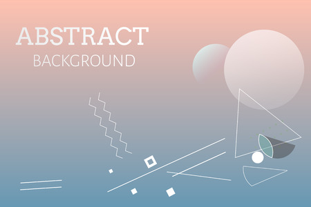 Gradient geometric abstract background vector Ilustrace