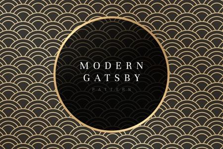 Modern gatsby pattern design vector