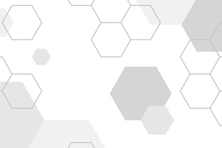Gray hexagon geometric pattern background vector  イラスト・ベクター素材