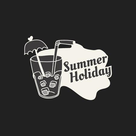 Tropical summer holiday badge vector Illusztráció