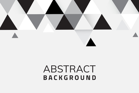 Abstract black and white geometric background vector Standard-Bild - 120963663