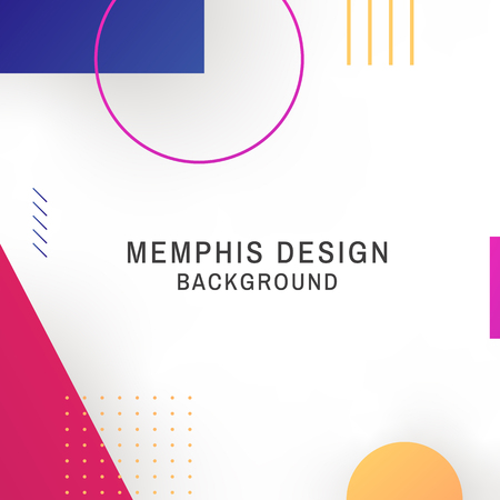 Colorful geometric white memphis background vector 스톡 콘텐츠 - 120963665