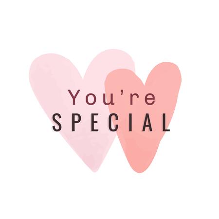You're special appreciation text Illustration