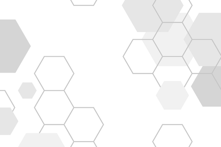 Gray hexagon geometric pattern background vector Ilustrace