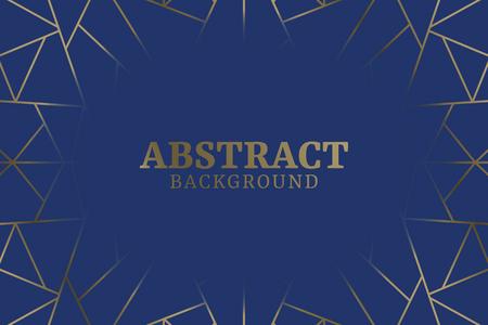 Blauwe abstracte geometrische achtergrond vector Vector Illustratie