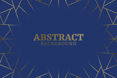 Blue abstract geometric background vector Çizim