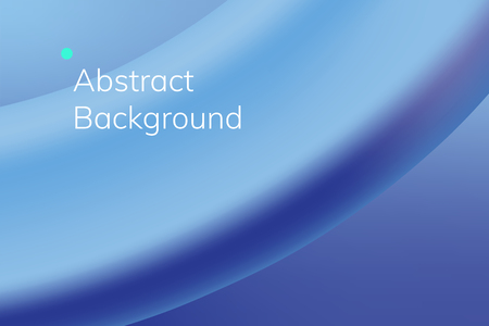 Blue wave abstract background vector