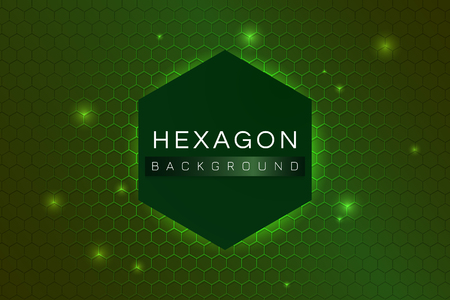 Green hexagon background design vector 일러스트