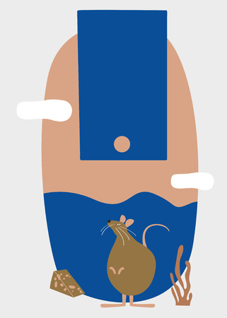 Year of the rat vector Illustration