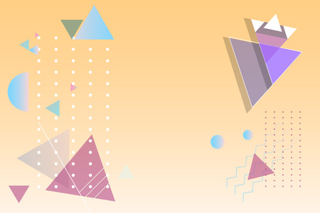 Colorful geometric abstract background vector Illustration