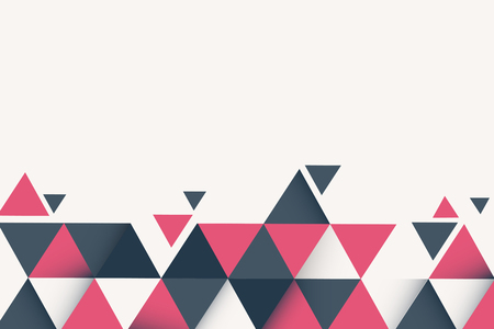 Abstract pink and gray geometric background vector