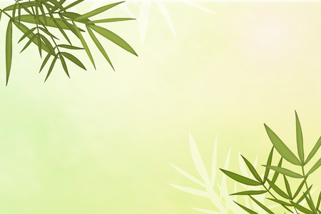 Bamboo leaf elements background vector