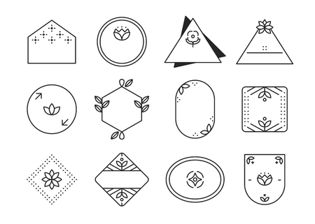 Geometric shaped badge collection vector 일러스트