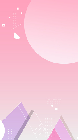 Pink geometric abstract background vector
