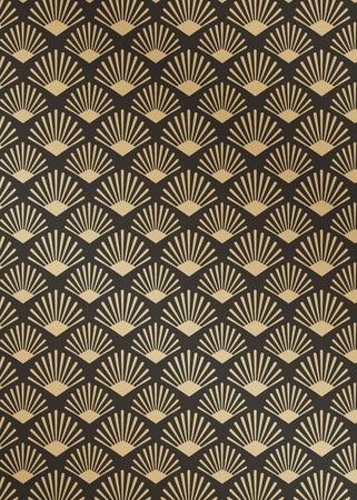 Vector de diseño de patrón dorado moderno gatsby Ilustración de vector