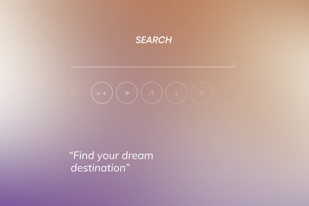 Find your dream destination on a search engine vector Illustration