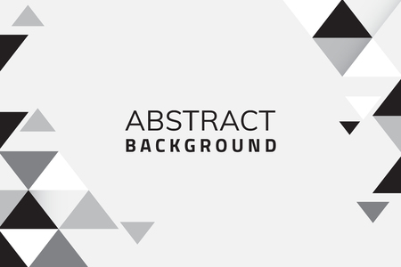 Abstract black and white geometric background vector 向量圖像