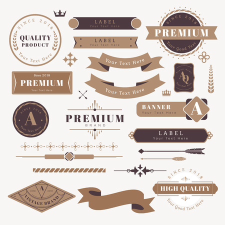 Vintage premium design element vectors Ilustrace