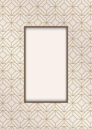 Modern gatsby pattern design vector Фото со стока - 120963842