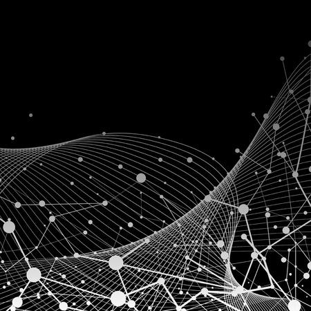 Black neural texture abstract vector
