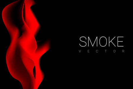 Red smoke abstract background vector