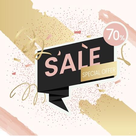 70% discount shop sale special offer promotion badge vector