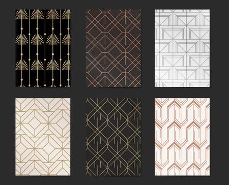 Vector de colección de diseño de patrón de gatsby moderno Ilustración de vector