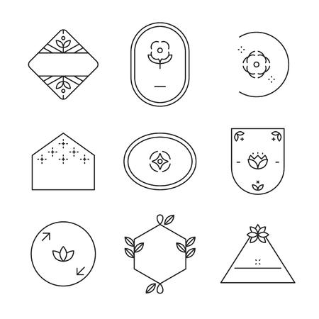 Vecteur de collection de badges en forme géométrique Vecteurs