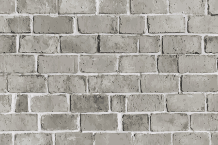 Rustic gray brick textured background vector Ilustrace