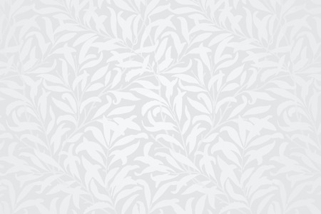 White leaves patterned background vector