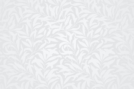 Vecteur de fond à motifs de feuilles blanches
