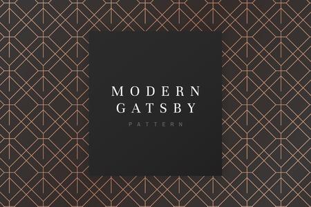 Vecteur de conception de modèle gatsby moderne