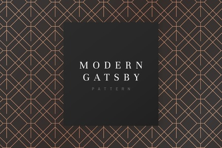 Vettore moderno di disegno del modello di gatsby