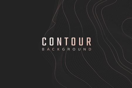 Topographic contour lines background vector