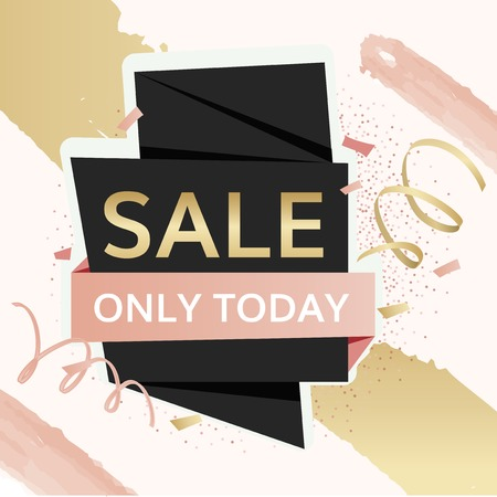 Shop sale only today advertisement badges vector set