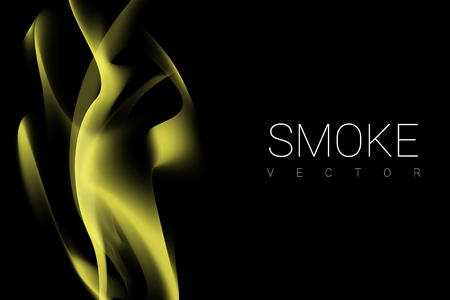 Yellow smoke abstract background vector Illustration