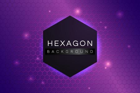 Purple hexagon background design vector