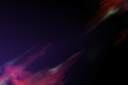 Colorful abstract nebula space background Imagens
