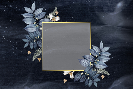 Diseño de marco de boda floral lujoso Foto de archivo