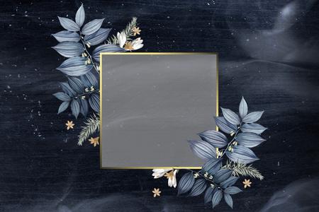 Luxurious floral wedding frame design Reklamní fotografie
