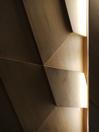 Light falling on a wooden abstract design