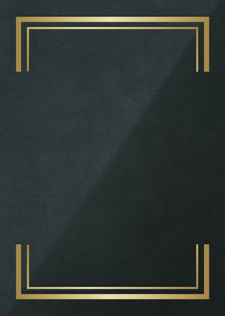 Gold rectangle frame on a dark gray concrete textured background