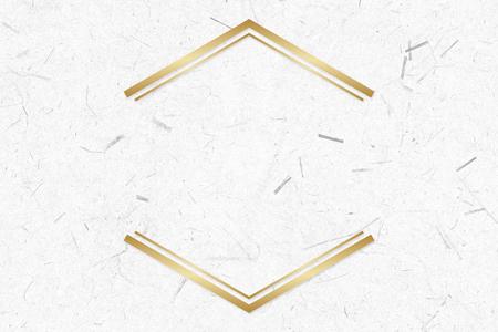 Golden frame on a paper texture