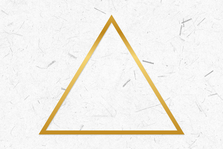 Golden framed triangle on a paper texture