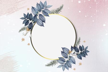 Luxurious floral wedding frame design