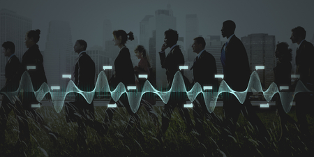 Business people walking in a city