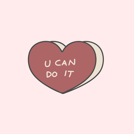 U can do it on a heart vector Ilustracja